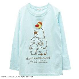 すみっコぐらし 子供 とかげ ねこ ぺんぎん? しろくま とんかつ キッズ KIDS 長袖 Tシャツ サンエックス キャラクター ワッペン