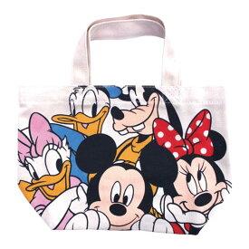 【メール便送料無料】ディズニー Disney ミッキーマウス トートバッグ ランチバッグ マチ付き フレンズ柄