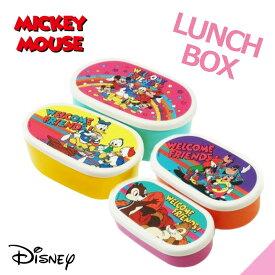ディズニー ミッキーとミニー80's柄弁当箱 4Pランチボックス 運動会/ピクニック/プレゼント/ランチグッズ
