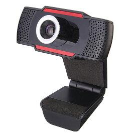 【送料無料】USB WEBカメラ webcam 在宅勤務・ビジネスチャット・TV会議にノートパソコン ・ デスクトップ適用 WEBカメラ マイク内蔵 フレームレート30fps  解像度720p対応 マイク機能付き
