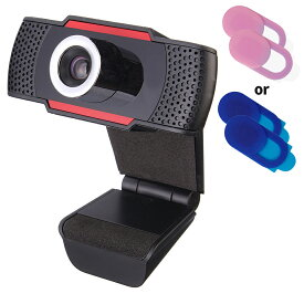 【送料無料】ウェブカメラ webcam 30fps720p 広角高画質webカメラ 内蔵マイク USDカメラ ノイズ対策 手動フォーカス 在宅勤務必要 動画配信 授業カメラ ビデオ通話 TV会議通話用 ウェブカメラカバー付き Windows7/8/10/xp/2000/Mac等(シルバー/レッド/オレンジ)