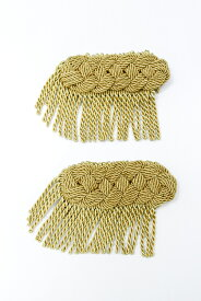 肩章 3本編み フリンジ付き 2個1セットゴールド シルバーの全2色!【ゴールド】