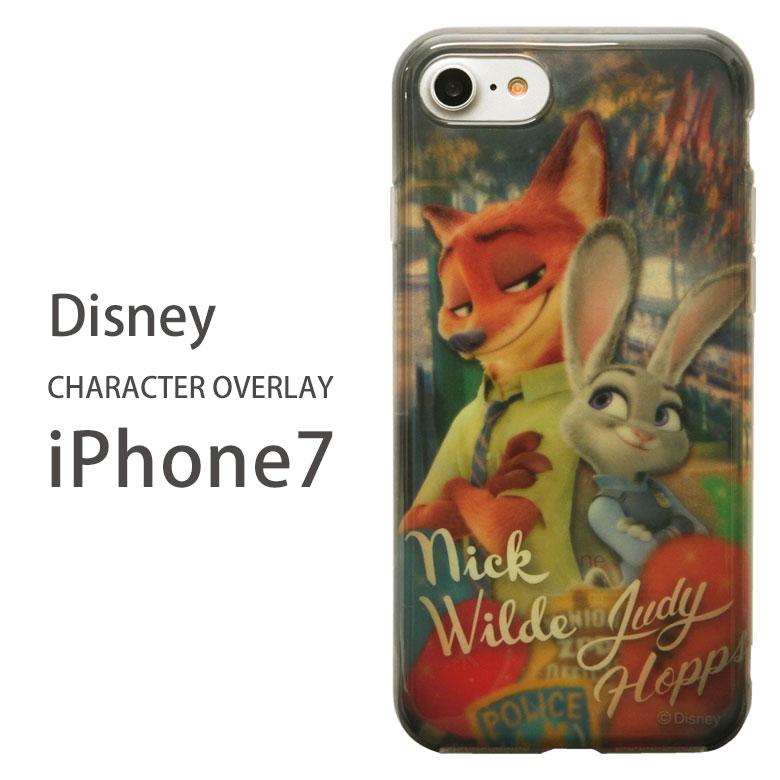 ディズニー キャラクターオーバーレイシリーズ iPhone7 4.7インチモデル対応 ソフトケース[K.ズートピア] クリアカバー グッズ ジャケット アイフォン7 スマホケース ZOOTOPIA レディース メンズ かわいい スマートフォン