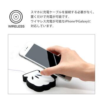 スマホ充電器/雑貨雑貨/モバイルバッテリー/おしゃれ/ワイヤレス/無線/携帯/スマートフォン/iphone/Android/ミッフィー