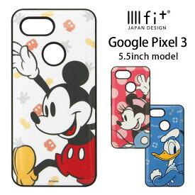 ディズニー Google Pixel 3 ケース IIIIfit ハイブリッド スマホケース Google Pixle3 キャラクター グッズ google ハードケース カバー ジャケット 耐衝撃 ミッキー ミニーちゃん ドナルド オシャレ かわいい Disney
