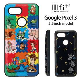 ディズニー トイストーリー Google Pixel 3 ケース IIIIfit ハイブリッド スマホケース Google Pixle3 キャラクター グッズ google ハードケース カバー ジャケット 耐衝撃 ウッディ エイリアン オシャレ かわいい Disney