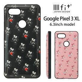 ディズニー Google Pixel 3 XL ケース IIIIfit ハイブリッド スマホケース Google Pixle 3XL キャラクター グッズ google ハードケース カバー ジャケット 耐衝撃 ミッキー ミニーちゃん 大人女子 オシャレ かわいい Disney