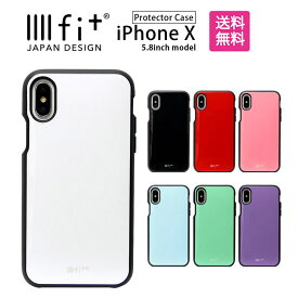 886384381f IIIIfit イーフィット iPhone X 5.8インチモデル対応 無地 シンプル 黒 白 赤 水色 紫 耐衝撃 スマホカバー | スマホケース  iphoneケース iphonexs xs ケース ...