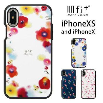 スマホケース/iPhoneX/iPhone10/アイフォンX/ジャケット/カバー/ソフトケース/アクセサリー/花柄/IIIIfit