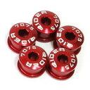 RIDEA 『TQXG-5_r』TQXG-5 シングルチェーンリングボルト 5mm 5個セット レッド [147-05101]