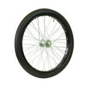 【代引無料】オオシマ 『Oshima26-212B』26x2 1/2 タイヤ・チューブ付 リムセット 組付 ブラック リアカー用 [469-00011]