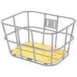 【送料無料】GIZA PRODUCTS(ギザプロダクツ) BKT09301 AL-N04 ウッド ボトム バスケット シルバー [BKT09301]