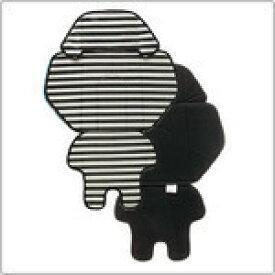 【即納】パナソニック NCD397K 後ろチャイルドシートカバー ホワイト ブラックボーダー×ブラック [NCD397K]