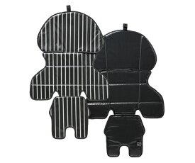 パナソニック NCD456K カジュアル着せ替えシートカバー (後用) ストライプ ブラック [NCD456K]