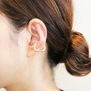 イヤーカフ イヤカフ イヤリング アクセサリー 重ね付け 片耳 軟骨 はさむ 痛くない リング メタル カーブ ワイド シンプル ゴールド シルバー お呼ばれ 大人 カジュアル 女性 レディース