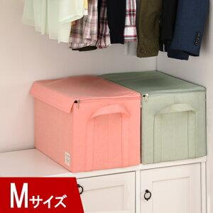 衣類収納ボックス Mサイズ 約幅33cm 奥行22cm 高さ22cm 衣装ケース 布製 フタ付き 収納ボックス 布 ふた付き カラーボックス インナーボックス