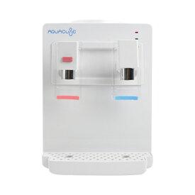 コンパクトウォーターサーバー AQUACUBE アクアキューブ KI-90509 メーカー保証1年付 冷水温水機能付(冷水:約12〜15℃、温水:約85〜95℃) 卓上ウォーターサーバー ペットボトル式(市販のペットボトル2リットルまで装着可能)