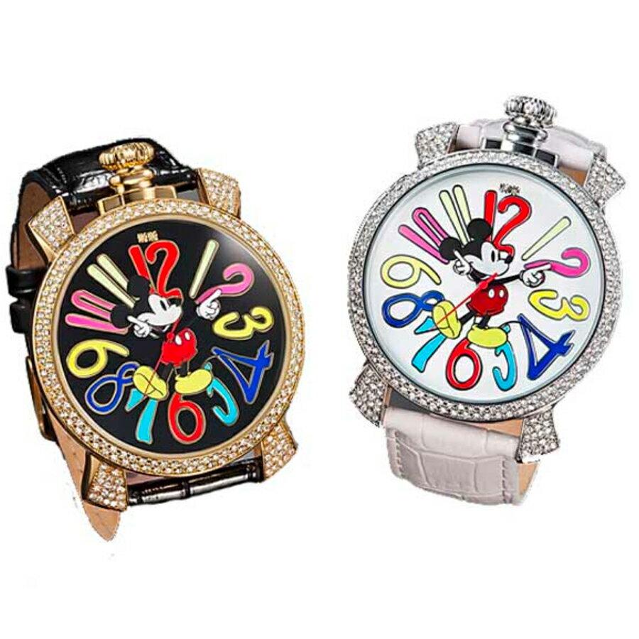 ミッキー ファンタジーカラーカラー:ゴールド シルバー(ミッキー腕時計 ビックフェイス時計 ミッキー時計誕生77周年)