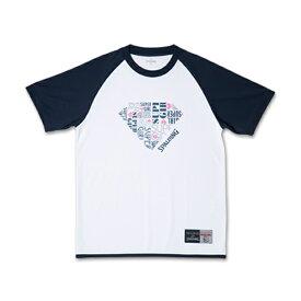 SUPERGIRL Tシャツ SMT181340 SPALDING スポルディング プラクティスウェア レディース 半袖 トップス バスケットボール スポーツ トレーニング 吸水速乾 ドライ ポリエステル クルーネック カジュアル ワイドT ビッグT