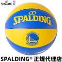 バスケットボールSPALDING スポルディングGOLDEN STATE WARRIORSゴールデンステイト・ウォリアーズ コンポジット7号球 屋内外兼用