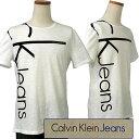 Calvin Klein Jeans Men'sCKバーティカルロゴ プリント半袖Tシャツ【2017-Spring/NewModel】カルバンクライン メンズ