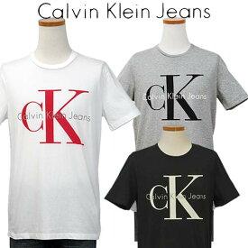 Calvin Klein Jeans Men'sCKビッグロゴ プリント半袖Tシャツ【2019-Spring/NewColor】カルバンクライン TシャツXL,XXL大きいサイズ 送料無料