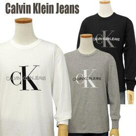 Calvin Klein Jeans Men'sCKモノグラムロゴ 長袖Tシャツ【2020-Spring/NewModel】カルバンクライン Tシャツ送料無料