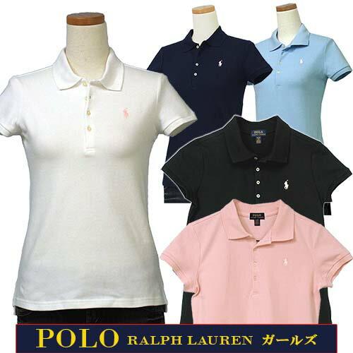  全商品10%OFFクーポン POLO by Ralph Lauren Girl's定番ベーシック半袖鹿の子ポロシャツラルフローレン ガールズ送料無料
