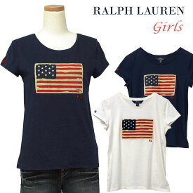 POLO by Ralph Lauren Girl'sUSフラッグ キャップスリーブTシャツ【2019-Spring/NewColor】ラルフローレン ガールズ