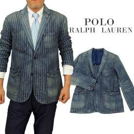 【全商品10%OFFクーポン】POLO by Ralph Lauren Men'sNEW ARTISANストライプ デニムブレザー【ラルフローレンMen's】【送料無料】