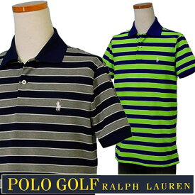 b2ce838246c POLO GOLF Ralph Lauren Men s半袖 ボーダー鹿の子ポロシャツ 2017-Spring NewColor
