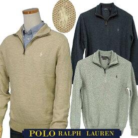 POLO by Ralph Lauren Men'sハーフジップ 鹿の子XL,大きいサイズ ラルフローレン ハーフジップ【送料無料】