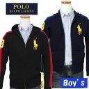 【全商品10%OFFクーポン】POLO by Ralph Lauren Boy'sラルフローレンビッグポニー フルジップ フード付セーター【2015…