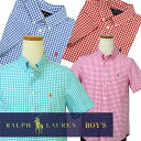 POLO by Ralph Lauren Boy's半袖ギンガムチェックシャツ【2016-Spring/NewColor】【ラルフローレン ボーイズ】 ギフト ...