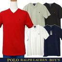 POLO by Ralph Lauren Boy's 定番Vネック ポイント半袖Tシャツ【ポロ ラルフローレンボーイズ】