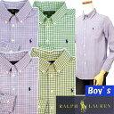 POLO by Ralph Lauren Boy'sマルチチェック長袖シャツ【ラルフローレン ボーイズ】ボタンダウンシャツ