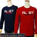 POLO by Ralph Lauren Boy'sRL67プリント 長袖Tシャツ【ラルフローレン ボーイズ】ラルフローレン Tシャツ