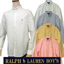 全商品25%OFFクーポン|POLO by Ralph Laurenラルフローレン Boy's定番長袖 オックスフォ-ドシャツボタンダウンシャツポロ ボーイズ