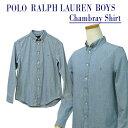 【全商品10%OFFクーポン】POLO by Ralph Lauren Boy's長袖シャンブレーシャツ【ラルフローレン ボーイズ】ボタンダウ…