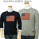 【全商品10%OFFクーポン】POLO by Ralph Lauren Boy'sラルフローレン フラッグセーターUSAフラッグ コットンセーター…