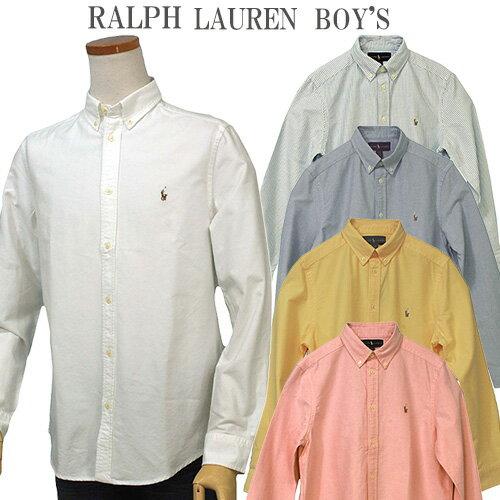 【全商品10%OFFクーポン】POLO by Ralph Laurenラルフローレン Boy's定番長袖 オックスフォ-ドシャツボタンダウンシャツポロ ボーイズ
