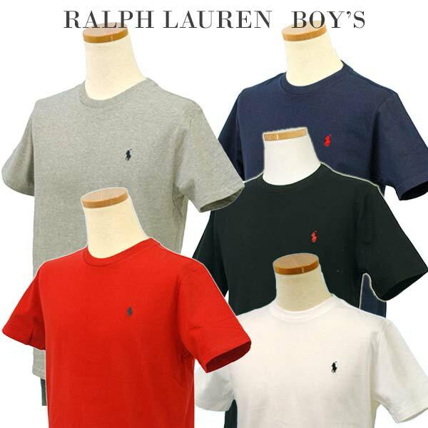 【父の日 10%OFFクーポン】POLO by Ralph Laurenラルフローレン Boy's定番半袖 ポイントTシャツ【ベーシックカラー】ラルフローレンボーイズ