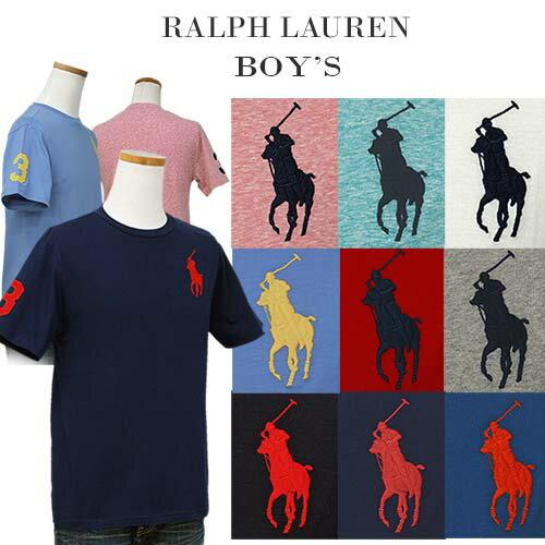 【父の日 10%OFFクーポン】POLO by Ralph Lauren Boy's ビッグポニー刺繍、半袖Tシャツ【2019-Spring/NewColor】ラルフローレンビッグポニーTシャツ