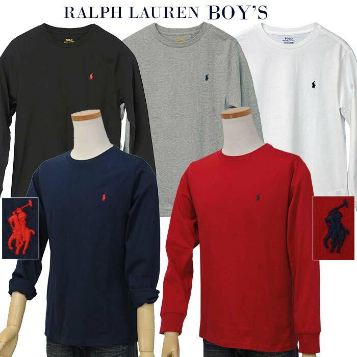【父の日 10%OFFクーポン】POLO by Ralph Lauren Boy'sベーシック 長袖ポイントTシャツ【2019-Spring/NewColor】【ラルフローレン T シャツ】送料無料
