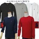 【全商品10%OFFクーポン】POLO by Ralph Lauren Boy'sベーシック 長袖ポイントTシャツ【2019-Spring/NewColor】【ラル…