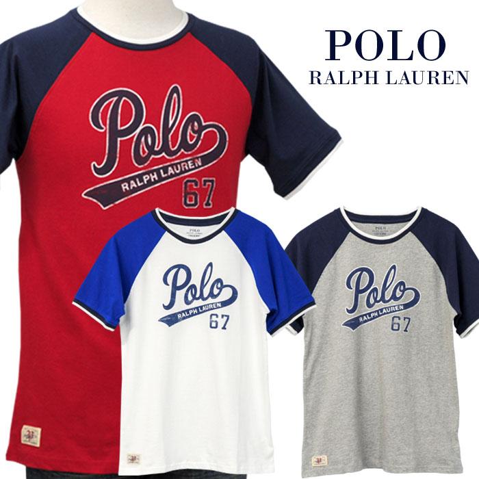 【父の日 10%OFFクーポン】POLO by Ralph Lauren Boy'sPOLOロゴプリント半袖ベースボールTシャツ【2019-Spring/NewModel】ラルフローレン半袖Tシャツ