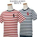 【全商品10%OFFクーポン】POLO by Ralph Lauren Boy's ビッグポニー ボーダー半袖Tシャツ【2019-Spring/NewColor】…
