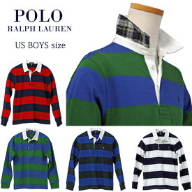 【全商品10%OFFクーポン】POLO by Ralph Lauren Boy'sボーダー長袖ラガーシャツ【2019-Fall/NewModel】ラルフローレン ラガーシャツ送料無料