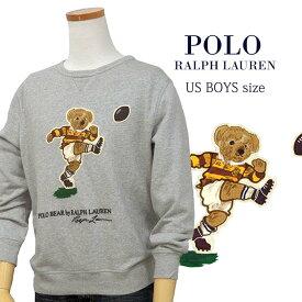 【全商品10%OFFクーポン】POLO by Ralph Lauren Boy'sポロベアー アップリケトレーナー【2019-Fall/NewModel】キッカーベアー、ラグビーベアー 送料無料