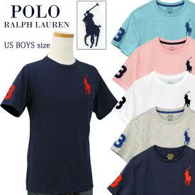 【全商品10%OFFクーポン】POLO by Ralph Lauren Boy's ビッグポニー刺繍 半袖Tシャツ【2020-Spring/NewColor】ラルフローレンビッグポニーTシャツ送料無料